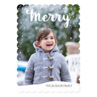 Merry Snowfall Collection Card