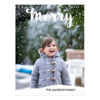 Merry Snowfall Collection Photo Postcard