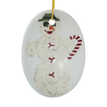 Merry Snowman-4 Ceramic Ornament