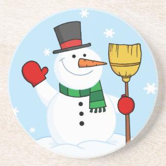 Merry Snowman Coaster
