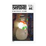 Merry snowman custom postage