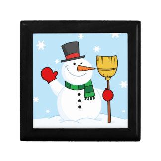 Merry Snowman Keepsake Box