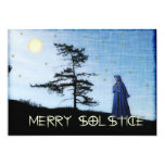 Merry Solstice Night 5x7 Paper Invitation Card