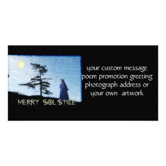 Merry Solstice Night Personalized Photo Card