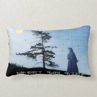 Merry Solstice Night Throw Pillow