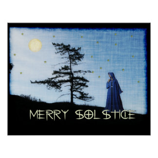 Merry Solstice Night Posters