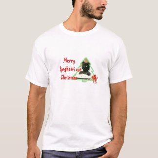 Merry Spaghetti cat Christmas T-Shirt