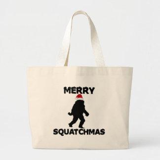 Merry Squatchmas Canvas Bags