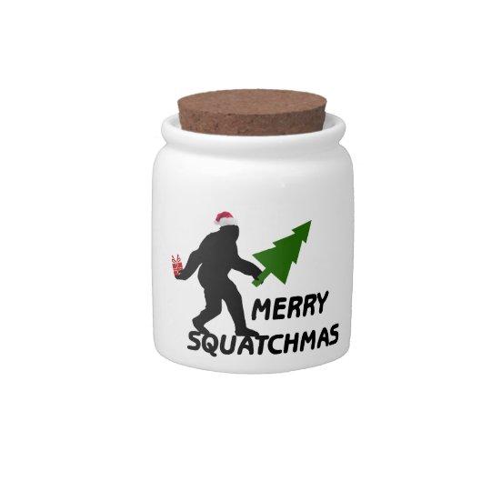 Merry Squatchmas Candy Jar