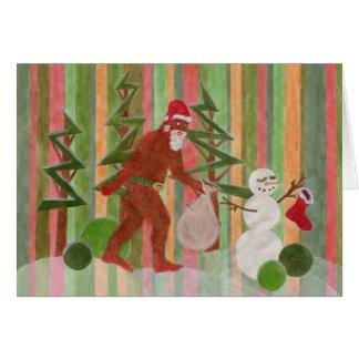 Merry Squatchmas! Greeting Cards