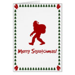 Merry Squatchmas! (Christmas Card) Greeting Card