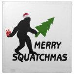 Merry Squatchmas Cloth Napkin