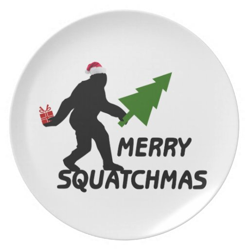 Merry Squatchmas Dinner Plate