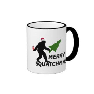 Merry Squatchmas Coffee Mugs