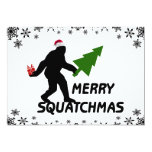 Merry Squatchmas Personalized Announcement