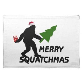 Merry Squatchmas Place Mats