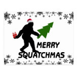 Merry Squatchmas Post Card