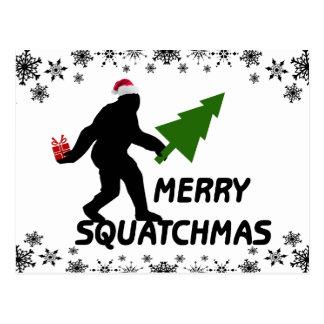 Merry Squatchmas Post Card