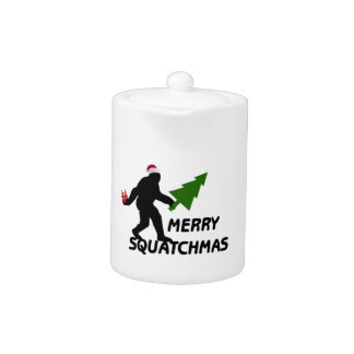 Merry Squatchmas Teapot