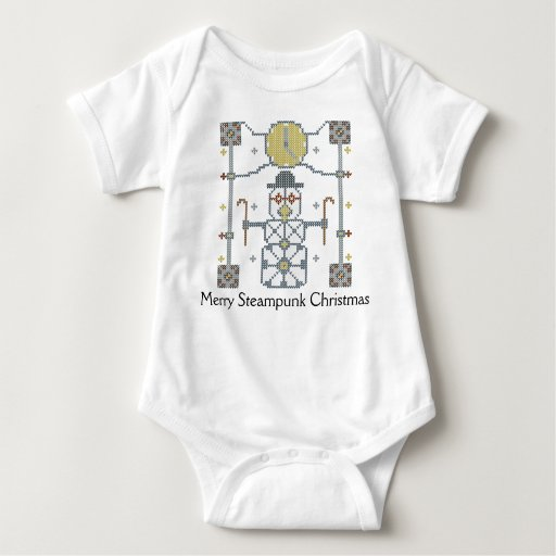 Merry Steampunk Christmas Snowman T-Shirt