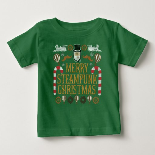 Merry Steampunk Christmas Ugly Xmas Sweater TShirt