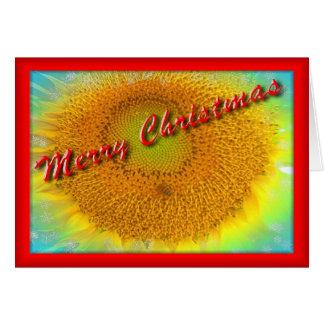 Merry Sunflower Christmas Card