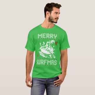 Merry Surfmas Ugly Christmas Sweater Gift Tshirt