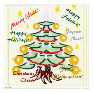 Merry Tannenbaum Delights Tree Wall Sticker