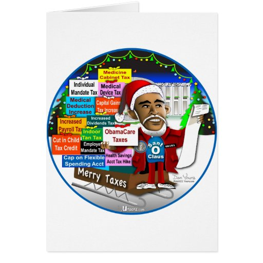 Merry Taxes Greeting Cards