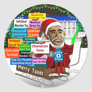 Merry Taxes Classic Round Sticker