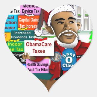 Merry Taxes Heart Sticker