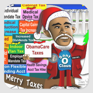 Merry Taxes Square Sticker