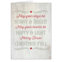 Merry Texas Christmas Song Country Western Card