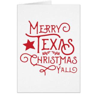 Merry Texas Christmas Y'all Greeting Card