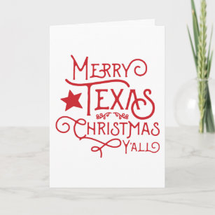 Texas christmas cards zazzle merry texas christmas yall greeting card m4hsunfo