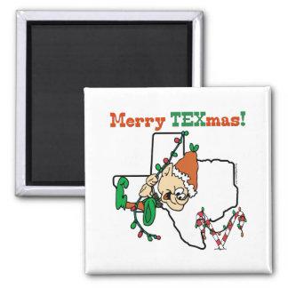 Merry Texmas Christmas Fridge Magnet