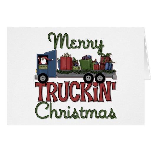 Merry Truckin' Christmas Greeting Card