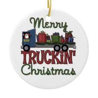 Merry Truckin Christmas Ornament