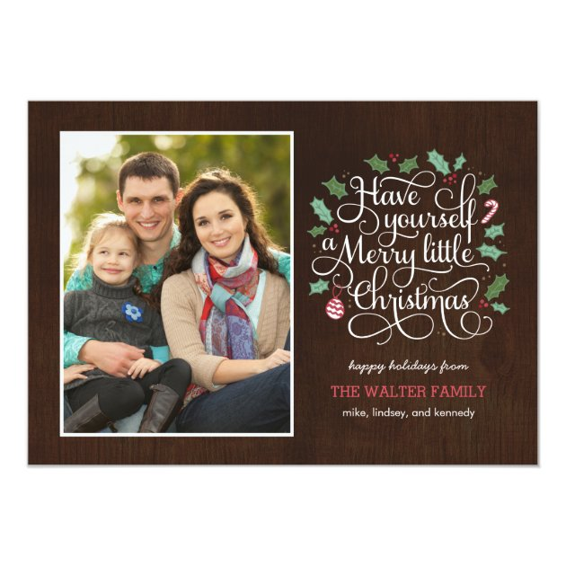 Merry Type Christmas / Holiday Photo Card