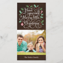 Merry Type Christmas Holiday Photo Card