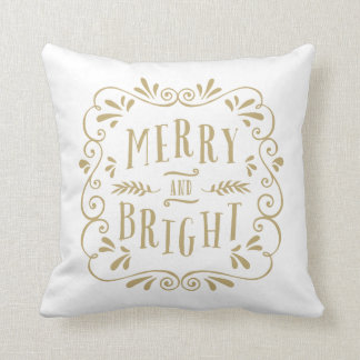 Merry Type | Holiday Throw Pillow