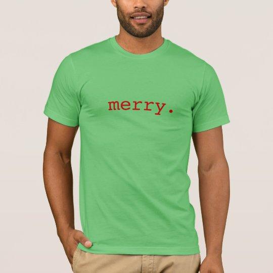merry. Understated Christmas Tshirt