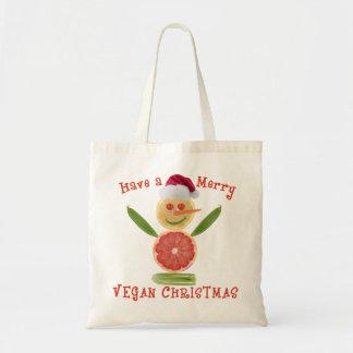 Merry Vegan Christmas Budget Tote Bag