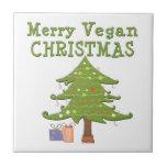 Merry Vegan Christmas Ceramic Tiles