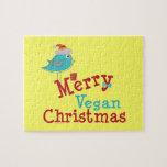 Merry Vegan Christmas Jigsaw Puzzle
