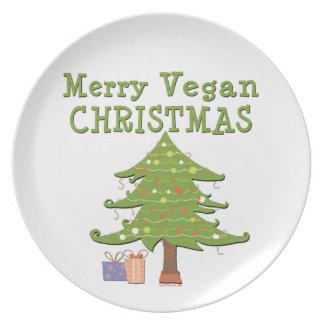 Merry Vegan Christmas Plates