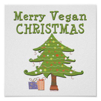 Merry Vegan Christmas Poster
