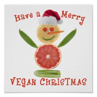 Merry Vegan Christmas Poster