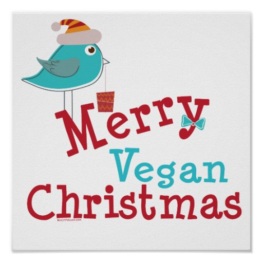 Merry Vegan Christmas Posters