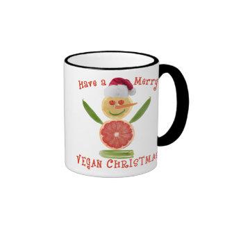 Merry Vegan Christmas Ringer Coffee Mug